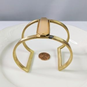 Vince Camuto Jewelry - Vince Camuto Cage Style Cuff W/ Faux Stone